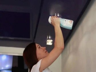 Чем мыть натяжные потолки без разводов: как мыть в домашних условиях матовые, уход и средства