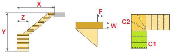 Калькулятор лестницы онлайн с поворотом 180 градусов: расчет площадки 90, забежная и поворотная программа