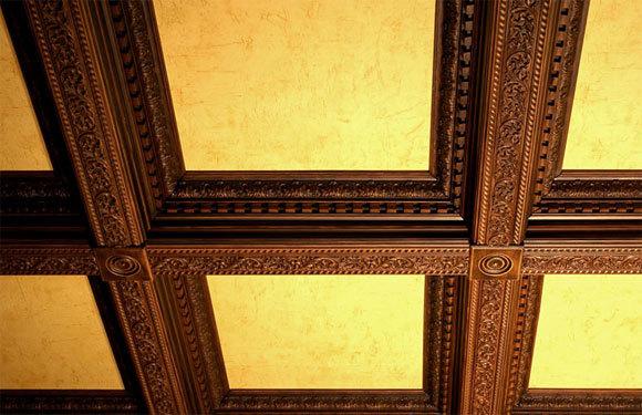 Кессонные потолки: фото, из дерева своими руками, виды, что это такое, кессон из МДФ