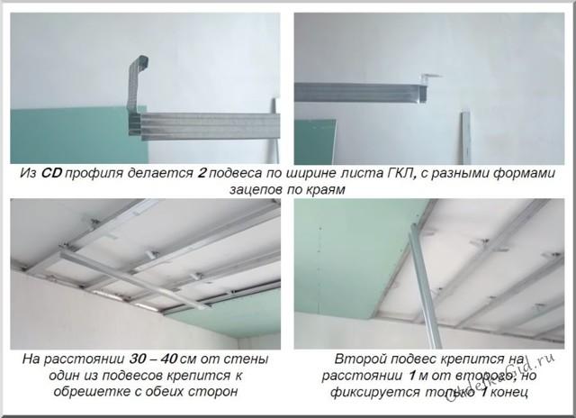 Крепление гипсокартона к потолку: крепить одному, прикрутить крепеж и видео, правильная сборка и способы укладки