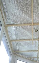 Потолок на балконе своими руками: утепление потолка, как утеплить лоджию пеноплексом, видео и крыша на последнем этаже