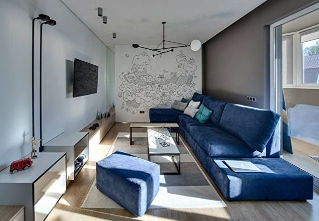Интерьер гостиной: фото в квартире, комнаты реальные в доме, строгие предметы, примеры картинок, кремовый
