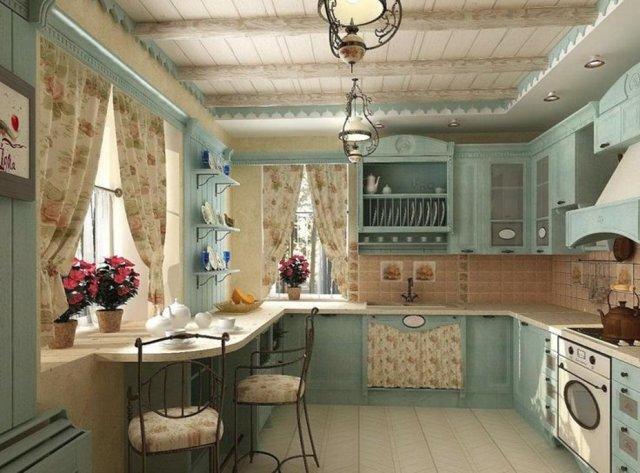 Обои в стиле прованс для кухни фото: классика и кантри