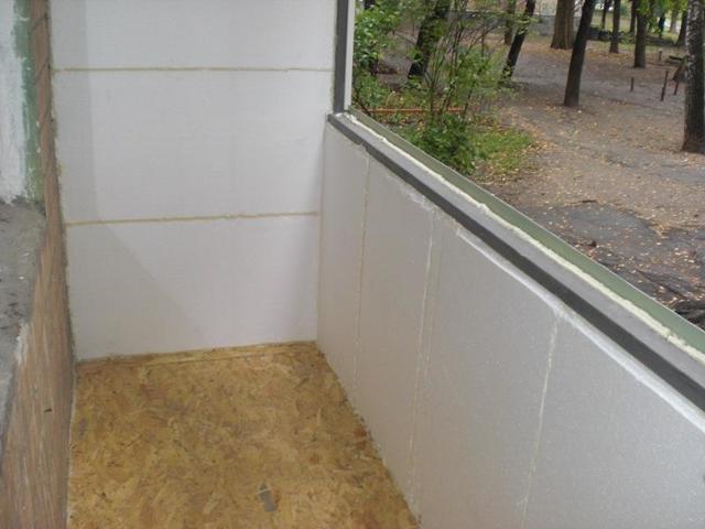 Утепление балкона пенопластом: на лоджии пенополистирол, как утеплить своими руками, видео и технология изнутри
