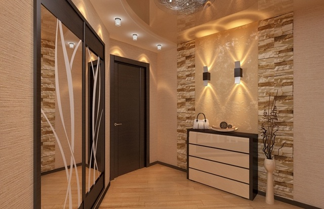 Интерьер коридора в квартире панельного дома: ремонта фото, дизайн шкафа-купе маленького, прихожая 2020