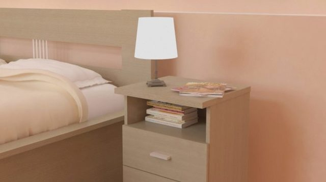 Прикроватные тумбы для спальни: столик и фото, ширина 30 см, размеры 40 см, недорогие кровати, белое стекло