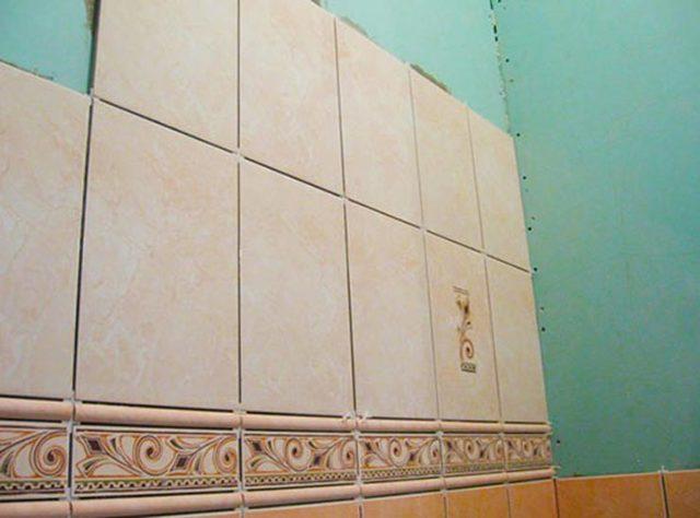 Как на гипсокартон клеить плитку: клей для кафеля, можно ли керамическую, наклейка и укладка, подготовка стен