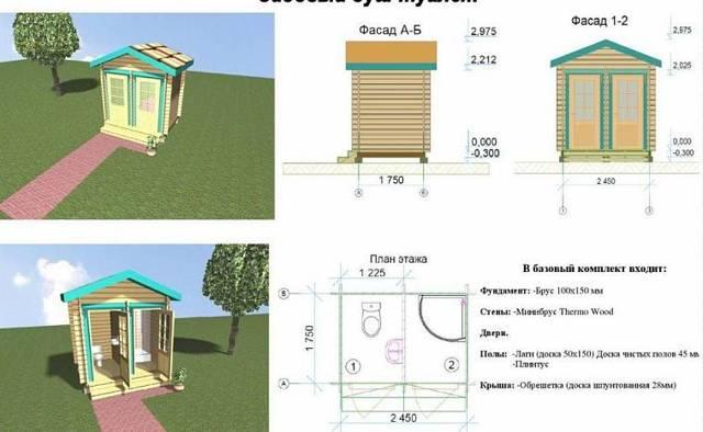 Санузел на даче: летний душ с туалетом под одной крышей, проект своими руками, удобства, план с размерами пошагово, совмещенные