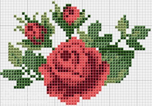 Вышивка крестиком схемы по клеточкам картинки: маленькие и легкие, для начинающих и детей, 50 на 50