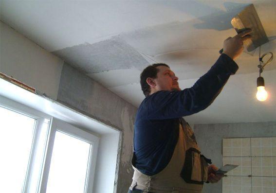 Шпаклевка потолка: своими руками как правильно, можно ли не шпаклевать окрашенный, видео, сколько сохнет и как наносить