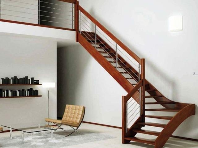 Лестница с забежными ступенями: углы 90 градусов, Г-образная конструкция с поворотом на 180, чертеж на второй этаж