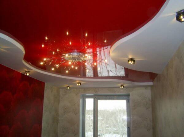 Двухуровневые потолки: фото, двухъярусные в квартире своими руками пошагово, в комнате