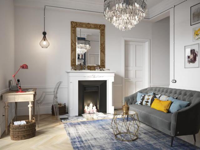Камины в интерьере гостиной фото: фальш-камин в доме, зал в городской квартире, искусственные и деревянные