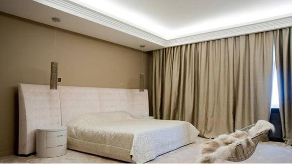 Скрытый карниз в натяжном потолке: ниша для скрытого, фото встроенного карниза и закладной для него