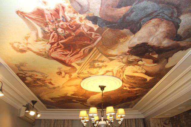 Узоры на потолок: картинки и фото, рисунки под трафарет, своими руками красивые, как сделать объемный