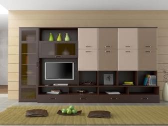 Глянцевые стенки в гостиную: мебель белая в зал, фото фасадов и поверхности, эмаль серый металлик, слоновая кость
