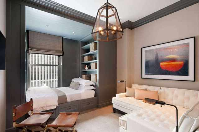 Интерьер спальни 15 кв. м фото: дизайн реальный и современный, прямоугольная планировка гостиной, гардеробная