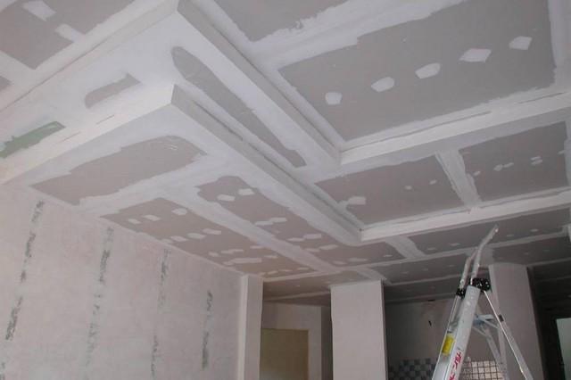 Подвесные потолки из гипсокартона: фото вариантов устройства, высота и расстояние между подвесами, конструкции и формы, дизайн комплектующих