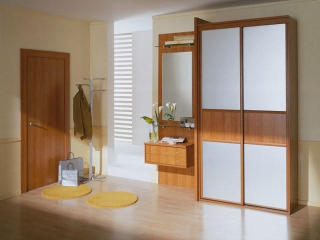 Встроенный шкаф в прихожую: фото в коридоре, дизайн двери для, идеи маленькой, чертеж и варианты мебели в нишу