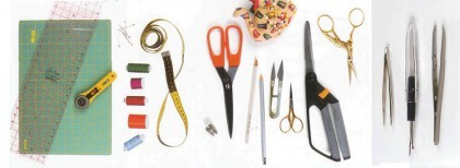 Наборы для пэчворка: линейка и домка, инструмент материал, хлопок ля лоскутного шитья, нож и швейная машинка