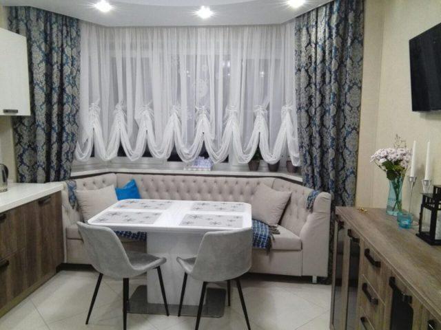 Австрийские шторы: фото, стиль в интерьере, занавески на кухню