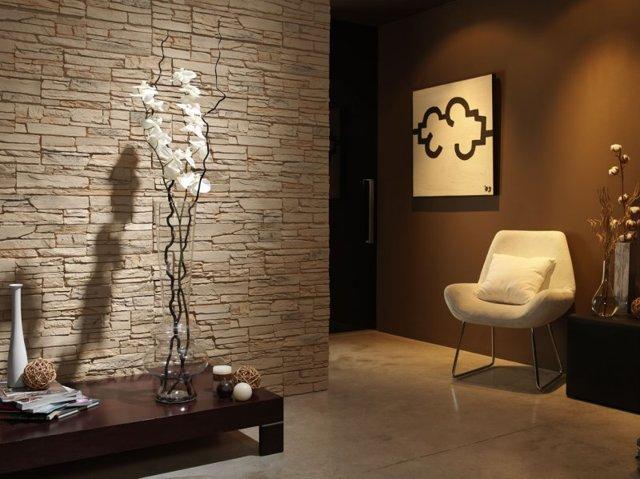 Обои под камень: каменные, фото в интерьере, на стену, можно ли клеить декоративный, искусственный и гибкий