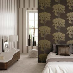 Коричневые обои: в интерьере фото, для стен с золотом, какие подобрать, подойдут к мебели, какой цвет