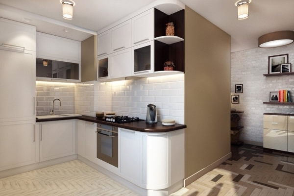 Мебель в прихожие-кухни: фото в одном помещении, стала однокомнатная квартира, как отгородить, дизайн маленький