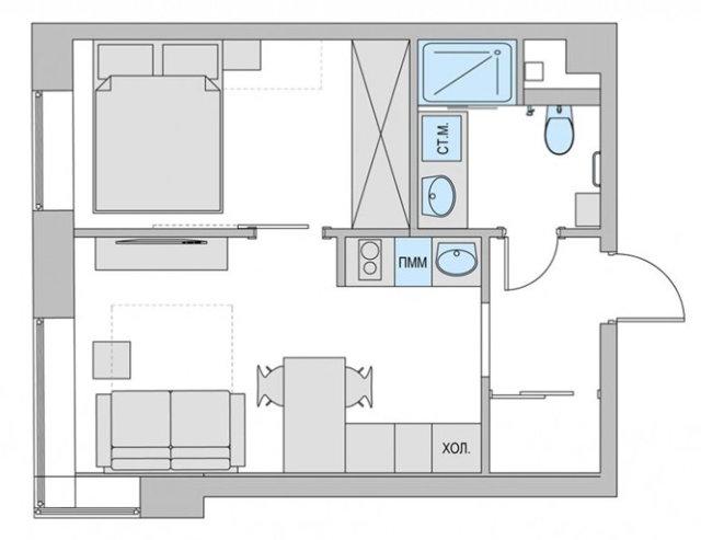 Гардеробная в нише: в однокомнатной квартире, из гипсокартона, как сделать своими руками, фото как переделать