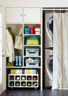 Узкий шкаф в прихожую: купе и фото, длинный коридор, глубина 30 и 40 см, цвет светлый бук, дизайн пятиметрового