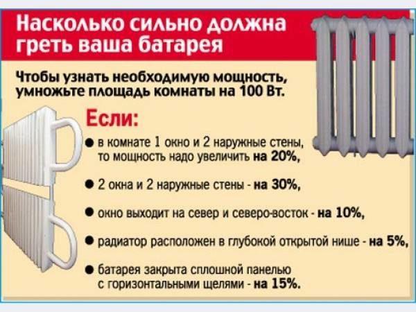 Расчет отопления по площади помещения калькулятор: количество секций на радиаторе, для батарей, тепло в квартире