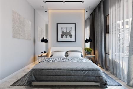 Спальня в хрущевке интерьер фото: дизайн современного интерьера, маленькая узкая спальня, ремонт и зонирование
