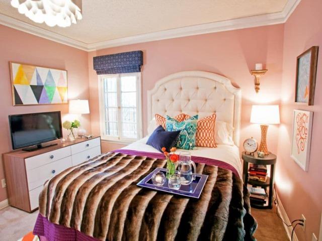 Оформление спален: в квартире, фото маленького размера, правила интерьера, небольшая комната в новом доме