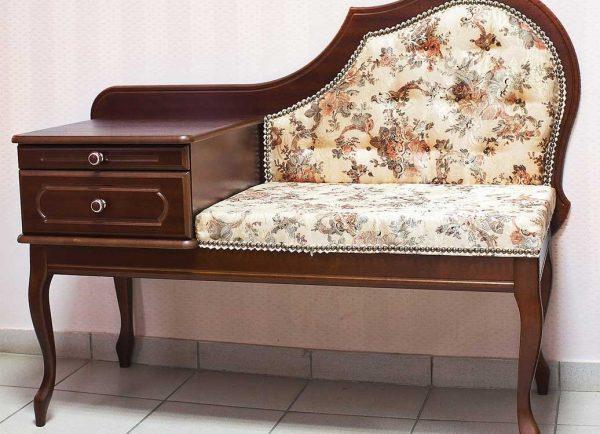 Банкетка в прихожую с сиденьем: со спинкой и под телефон фото, скамья с ящиком, диван узкий, пуф своими руками