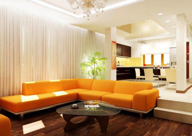 Студия кухня-гостиная дизайн: фото интерьера зала в квартире, совмещенная комната, ремонт в неоклассическом стиле
