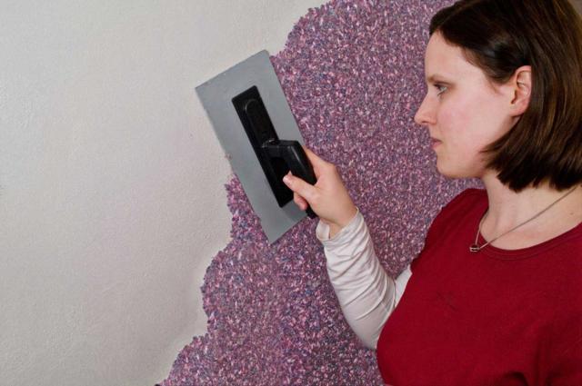 Мокрые обои для стен фото: видео и технология нанесения