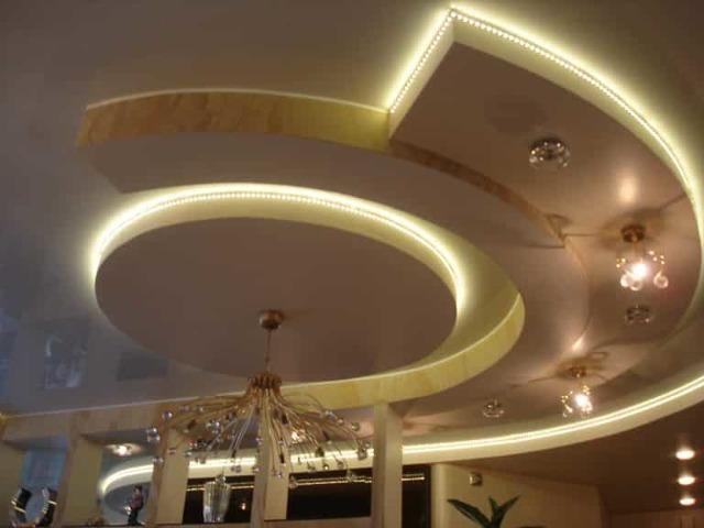 Светильники для натяжных потолков: потолочные светодиодные точечные, фото и дизайн, подойдет ли