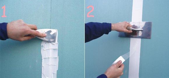 Шпаклевка гипсокартона под обои: своими руками, видео, можно ли клеить без шпаклевки, как нужно шпаклевать