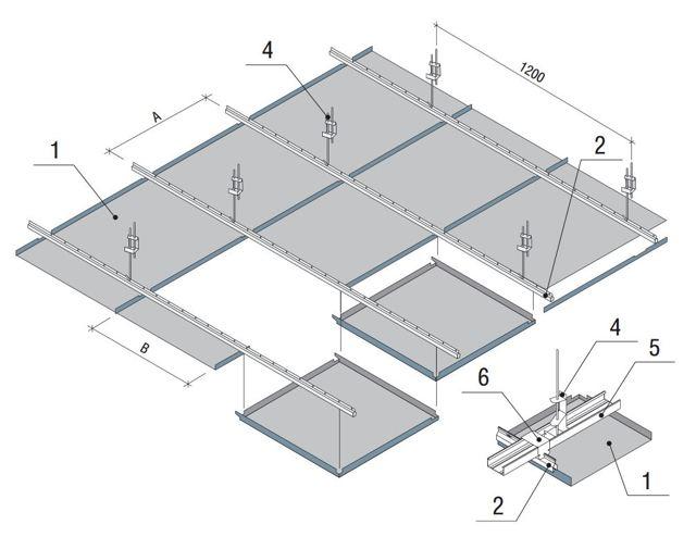 Монтаж подвесного потолка: установка и крепление, видео о комплекте МК-2, своими руками ремонт