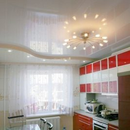Двухуровневые натяжные потолки: фото монтажа, видео инструкция, с подсветкой двухъярусные, 2-х уровневые