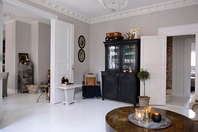 Белый потолок какие стены и пол: серо-белые стены в интерьере, почему белый, оранжевый пол и лак, производители