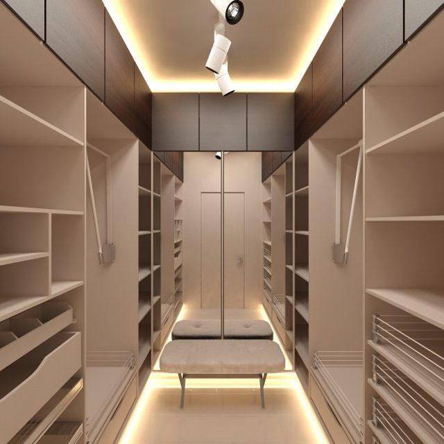 Гардеробная из кладовки: в панельном доме, фото как своими руками, варианты из маленькой комнаты, как обустроить систему хранения