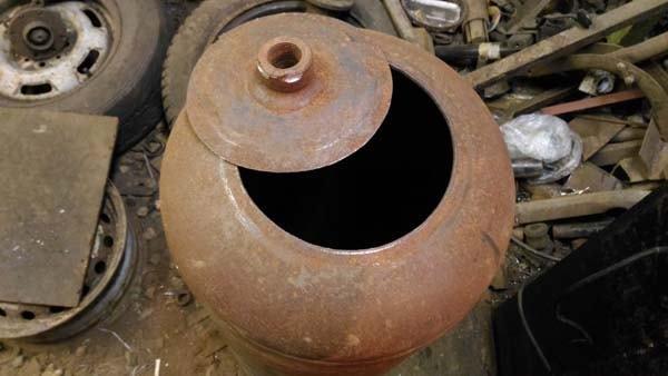 Печь на отработанном масле: отработка капельного типа своими руками, как сделать с наддувом из газового баллона