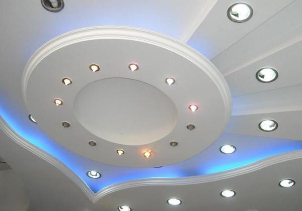 Накладные точечные светильники на потолок: освещение, фото встроенного света, монтаж в пластиковый, хрустальные двойные как подсоединить с люстрой