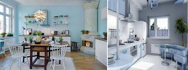 Голубые обои: для стен в интерьере, цвета и фото, светлые с золотом, с какими сочетаются, фон комнаты белый