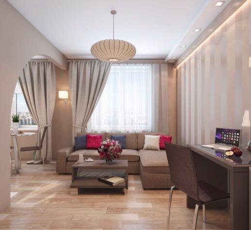 Дизайн кухни совмещенной с гостиной фото в хрущевке: зала интерьер, как объединить и соединить, перепланировка