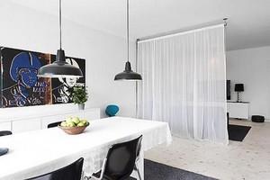 Зонирование комнаты с помощью штор: как разделить на две зоны, фото, как перегородить на 2, разделительная зона