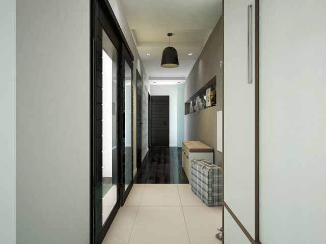 Коридор дизайн: фото в квартирах, прихожая в доме, реальные картинки, простой и подходящий для трехкомнатной