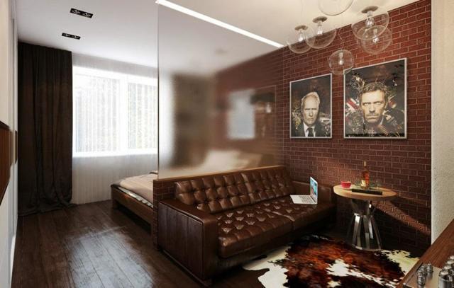 Спальня 2 2: дизайн и фото, 4 кв. метра, 1 комната, гостиная в доме, зона кровати, мебель и окна, проект и обои