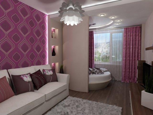Перегородка для зонирования комнаты из гипсокартона: фото, как разделить на спальню и гостиную с помощью декоративной